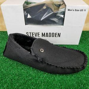 NEW Steve Madden Black P-Fire Moccasin Slippers